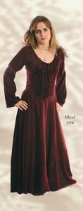 Gothic Dress~Medieval laced & embroidered gothic long dress~By Bares & Folio Gothic Hippy~5-394